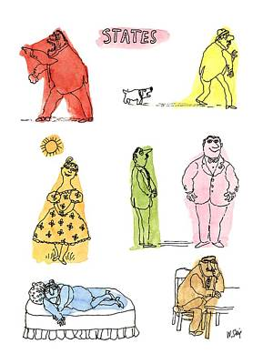 People Drawing - States by William Steig