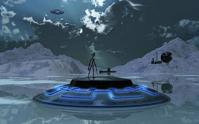 Station 211 Alien Nazi Base Located Art Print by Mark Stevenson