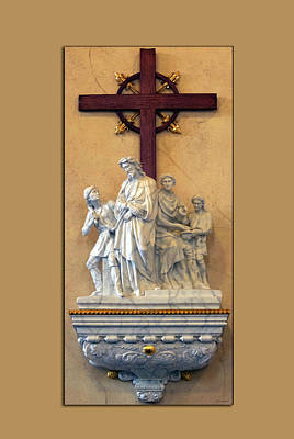 Station Of The Cross 01 Art Print by Thomas Woolworth