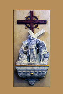 Station Of The Cross 06 Art Print by Thomas Woolworth
