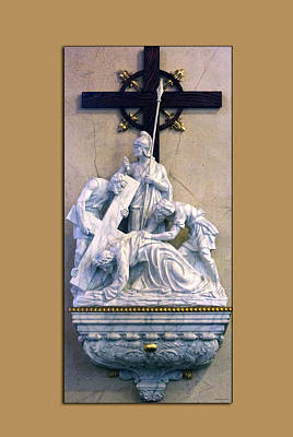 Station Of The Cross 07 Print by Thomas Woolworth