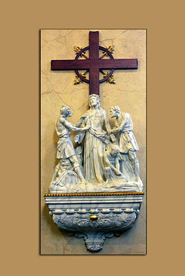 By Thomas Woolworth Photograph - Station Of The Cross 10 by Thomas Woolworth