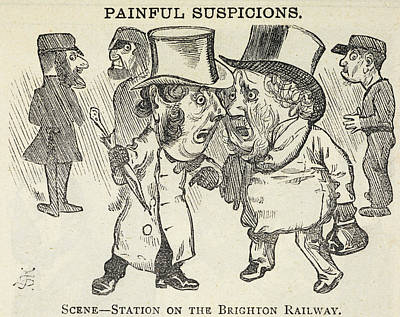 Station On The Brighton Railway Art Print