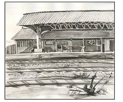 Ts Painting - Station by ROhit Ramanuj
