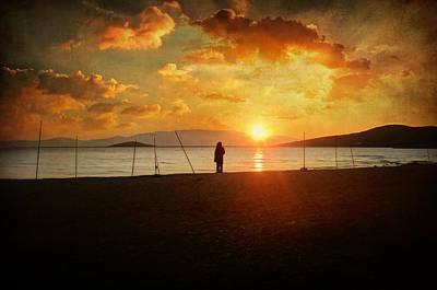 Alone Photograph - Stationary Traveller by Taylan Apukovska