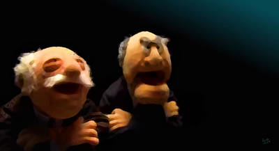 Statler And Waldorf 2 Art Print by Marcello Cicchini