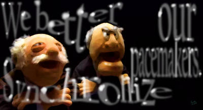 Statler And Waldorf Art Print by Marcello Cicchini
