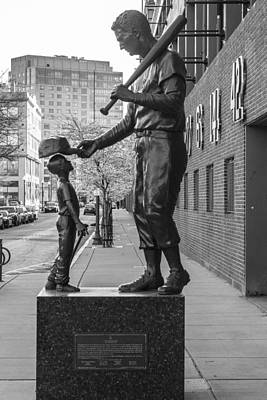 Photograph - Statue At Fenway by John McGraw