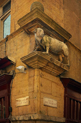 Photograph - Statue At Rue Du Boeuf In Old Lyon by Carla Parris