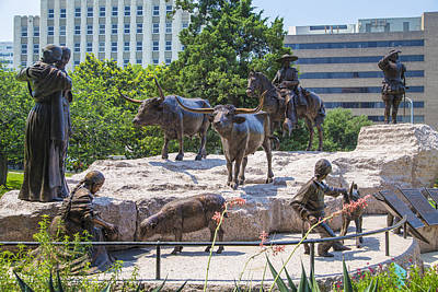 Photograph - Statue At The Capital In Austin Tx  by John McGraw