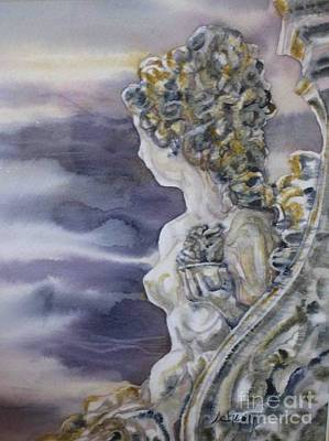 Painting - Statue by Donna Acheson-Juillet