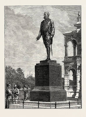 Historic Statue Drawing - Statue Erected At Colombo To Sir William Gregory by English School