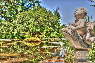 Photograph - Statue In Brookgreen Gardens by Dale Powell