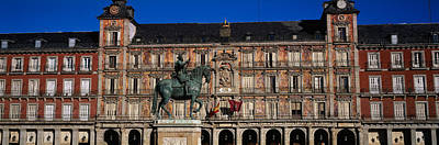 Statue In Front Of A Building, Plaza Art Print by Panoramic Images
