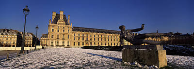 Statue In Front Of A Palace, Tuileries Art Print