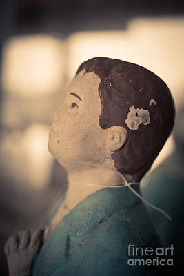 Doll Photograph - Statue Of A Boy Praying by Edward Fielding