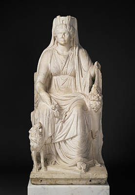Statue Portrait Drawing - Statue Of A Seated Cybele With The Portrait Head by Litz Collection
