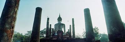 Statue Of Buddha At A Temple, Sukhothai Art Print