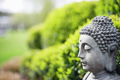 Photograph - Statue Of Buddha In A Garden by Onoky - Eric Herchaft