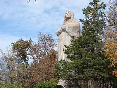 Statue Of Chief Black Hawk In Oregon Il Art Print