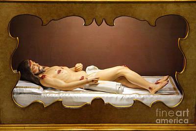 Statue Of Dead Christ Art Print by Gaspar Avila