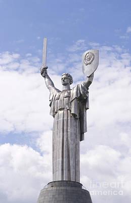 Kiev Wall Art - Photograph - Statue Of Defense by Bill Bachmann