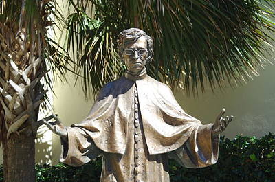 Space Photographs Of The Universe - Statue of Father Felix Varela by William Ragan