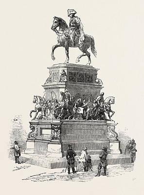 Berlin Germany Drawing - Statue Of Frederick The Great, Berlin, Germany by German School