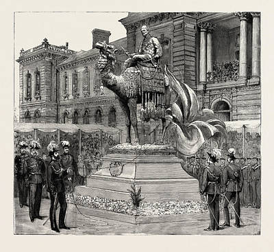 Barrack Drawing - Statue Of General Gordon, Brompton Barracks by English School