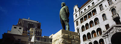 Cape Town Photograph - Statue Of Jan Hendrik Hofmeyr At A Town by Panoramic Images