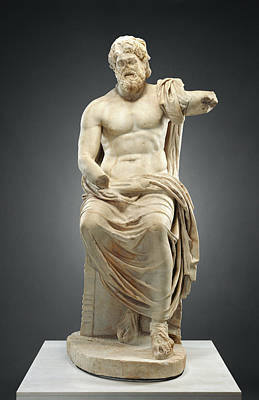 Zeus Drawing - Statue Of Jupiter Marbury Hall Zeus Unknown 1st Century by Litz Collection