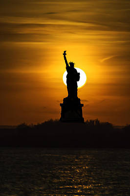 Train Photography - Statue Of Liberty 8608 by Karen Celella