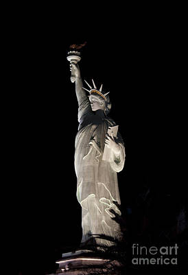 Statue Of Liberty At Night Photograph - Statue Of Liberty After Midnight by Ivete Basso Photography