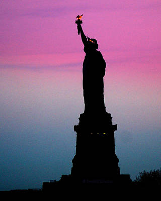 Photograph - Statue Of Liberty At Dusk by DerekTXFactor Creative