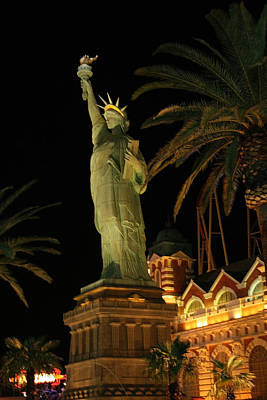Photograph - Statue Of Liberty At Las Vegas by Sharon I Williams