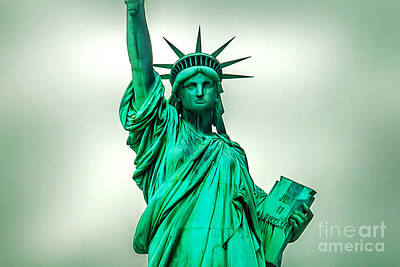 Liberation Photograph - Statue Of Liberty by Az Jackson