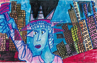 Statue Of Liberty Mixed Media - Statue Of Liberty by Don Koester