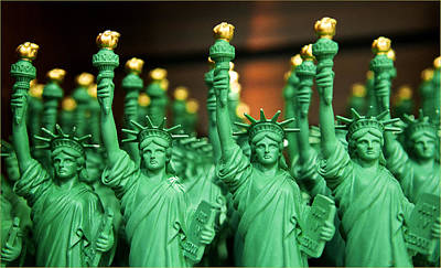 Miniature Nyc Photograph - Statue Of Liberty For Sale by Alida Thorpe