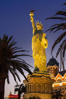 Statue Of Liberty At Night Photograph - Vegas - Statue Of Liberty  by Gej Jones