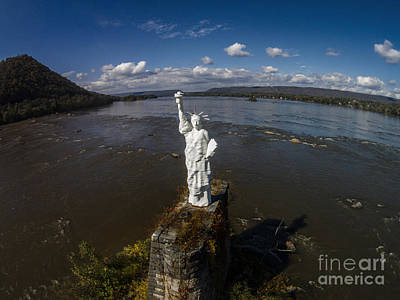 Photograph - Statue Of Liberty Harrisburg Pa by Tony Cooper