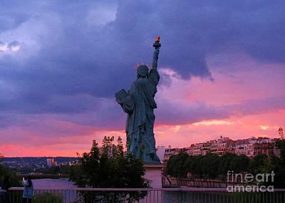 Statue Of Liberty In Paris Art Print by John Malone