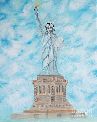 Painting - Statue Of Liberty. Inspirations Collection. by Oksana Semenchenko