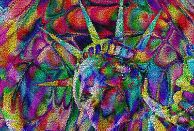Torch Digital Art - Statue Of Liberty by Jack Zulli