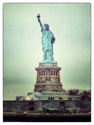 Photograph - Statue Of Liberty by For Ninety One Days