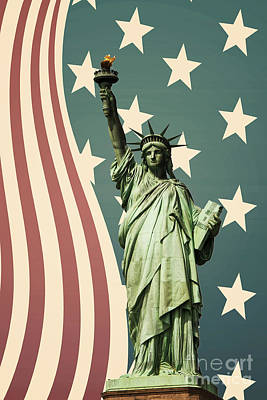 Statue Of Liberty Print by Juli Scalzi