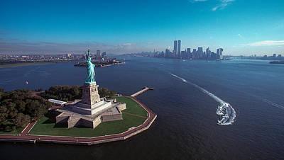 Statue Of Liberty Art Print by Kim Lessel