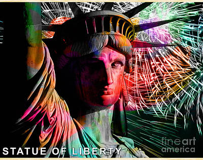 Statue Of Liberty Mixed Media - Statue Of Liberty by Marvin Blaine