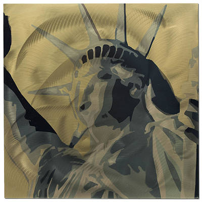 Statue Of Liberty Mixed Media - Statue Of Liberty by Metal Art Studio