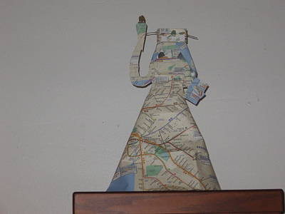 Statue Of Liberty Mixed Media - Statue Of Liberty Nyc Subway Map by Maya  Rodriguez