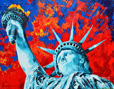 Painting - Statue Of Liberty - Lady Liberty by Patricia Awapara